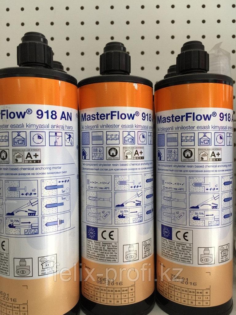 MasterFlow 918 AN — двухкомпонентный состав на основе винилэфирной смолы для крепления резьбовых стержней в бе