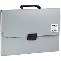 Папка-портфель 13 отделений OfficeSpace, A4, 330*235*40мм, 700мкм, серый F13P3_337