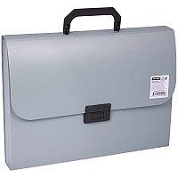Папка-портфель 7 отделений OfficeSpace, A4, 330*235*35мм, 700мкм, серый F06P3_338