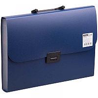 Папка-портфель 7 отделений OfficeSpace, A4, 330*235*35мм, 700мкм, синий F06P2_333