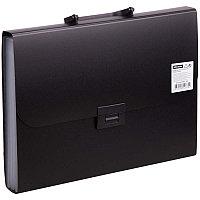 Папка-портфель 7 отделений OfficeSpace, A4, 330*235*35мм, 700мкм, черный F06P1_334