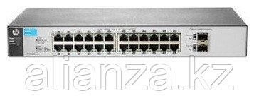 "J9803A Коммутатор HP 1810-24G Switch(WEB-Managed, 24*10/100/1000 +2 SFP, Fanless design, 19"")"