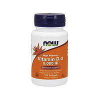 Витамин D3 Now Foods - Vitamin D-3 5000IU, 120 капсул