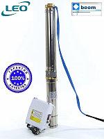 Насос для скважины погружной  3XRm 3.5/28-1.5 LEO   Ø80 мм, max 108 м (с пультом управления