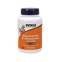 Средство для суставов и связок Now Foods - Glucosamine & Chondroitin with MSM, 90 Капсул
