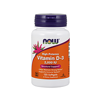 Витамин D3 Now Foods - Vitamin D-3 2000IU, 120 капсул