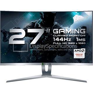 Игровой Монитор ЖК 27 GameMax GMX27C144 <1920*1080, LED, 144Hz,