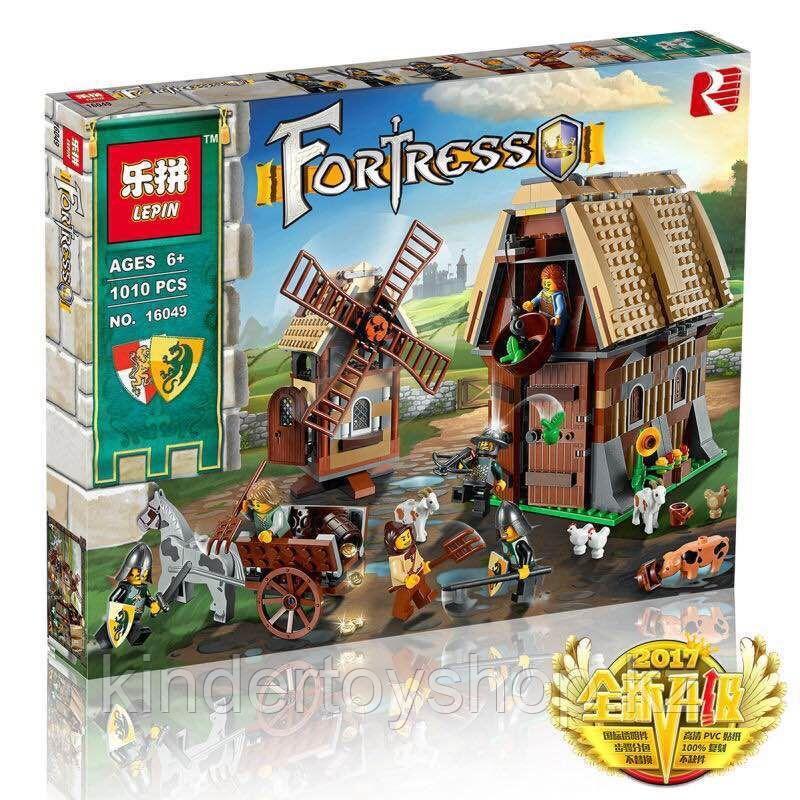 Конструктор Lepin 16049 Набег на деревенскую мельницу. Аналог Lego Castle (7189) 1010 Деталей