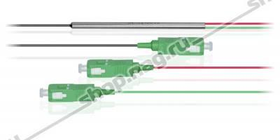 Делитель оптический бескорпусный single window 1х 2, (1550nm) с разъемами SC/APC