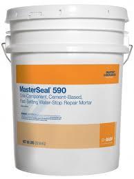 MasterSeal® 590 Сверхбыстротвердеющая цементная смесь для устранения активных протечек воды в бетоне и кирпичн