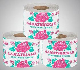 Туалетная бумага «Алматинская» однослойная, с перфорацией, 10 рул/уп