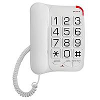 Телефон проводной Texet TX-201, Режимы: Flash, Цвет: Белый, Упаковка: Розничная