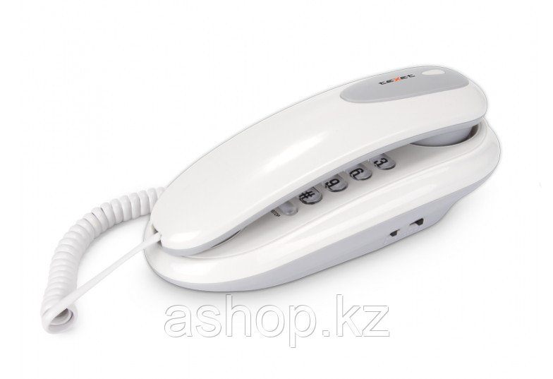 Телефон проводной Texet TX-236, Цвет: Серый, Упаковка: Картонная коробка