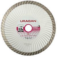 """Круг отрезной алмазный URAGAN """"ТУРБО+"""", эвольвентный, для УШМ, 200х22,2мм"""
