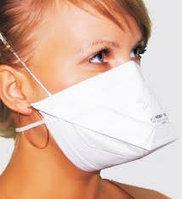 Медицинский, противотуберкулёзный респиратор ffp 2 утиный клюв угольная прослойка