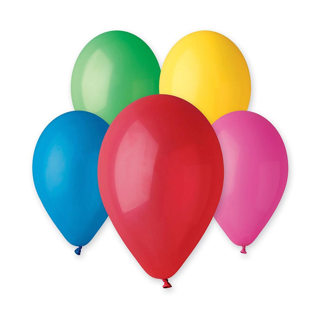 Воздушный шарик Gemar 1101-0006 Размер 30 см Латекс Цвета пастельные в ассортименте(10-12 цветов) Цветной