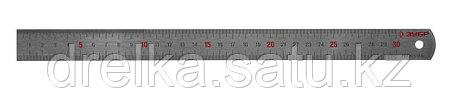 """Линейка ЗУБР """"ЭКСПЕРТ"""" нержавеющая, двусторонняя, непрерывная шкала 1/2мм / 1мм, двухцветная, длина 0,3м, фото 2"""