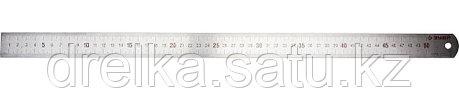 """Линейка ЗУБР """"ЭКСПЕРТ"""" нержавеющая, двусторонняя, непрерывная шкала 1/2мм / 1мм, двухцветная, длина 0,5м, фото 2"""