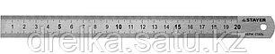 """Линейка STAYER """"PROFI"""" нержавеющая, двухсторонняя гравированная шкала, 0,2м , фото 2"""