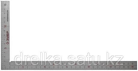 """Угольник ЗУБР """"ЭКСПЕРТ"""" столярный нерж. сталь, шкала: шаг 1 мм, гравированная, 300 х 150 мм , фото 2"""