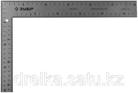 """Угольник ЗУБР """"ЭКСПЕРТ"""" плотницкий цельнометаллический, гравированная шкала (шаг 1мм), 300х200мм  , фото 2"""