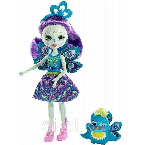 Mattel Enchantimals Кукла с питомцем Пэттер Павлина