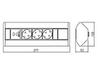 УДЛИНИТЕЛЬ УГЛОВОЙ GTV AE-PBKT3S2U-80 (НА 3 РОЗЕТКИ, 2 USB) GTV, фото 9