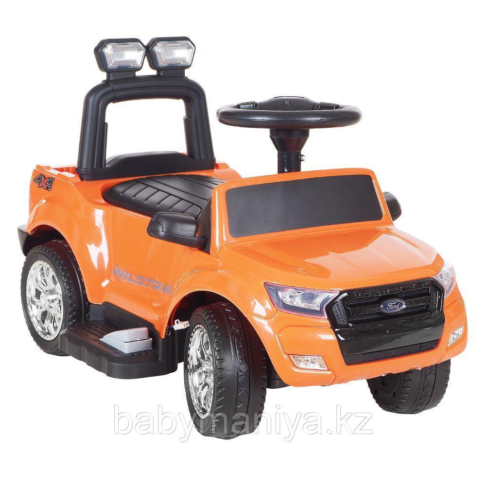 Электроминикар RXL FORD RANGER (акку,мотор,муз.руль,свет,MicroSD)Оранж