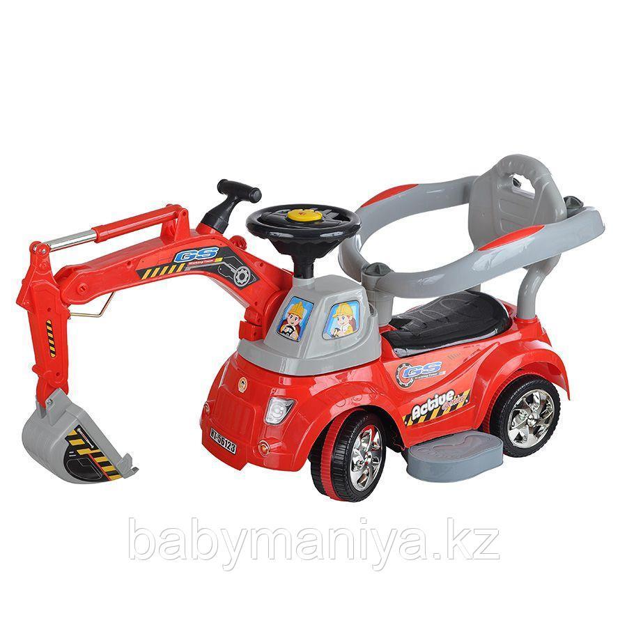 Каталка Toysmax электрическая Экскаватор с пультом Красный
