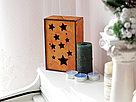Подарочный ящик с выдвижной крышкой (звезды) с покраской 25*16*9 см., фото 2