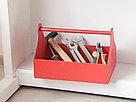 Деревянный ящик с ручкой (плотника) с покраской 30*20*22 см., фото 3