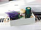 Деревянный ящик с ручками-верёвками с покраской 30*20*8,5 см., фото 4