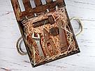 Деревянный ящик с откидной крышкой с покраской 25*25*8 см., фото 2