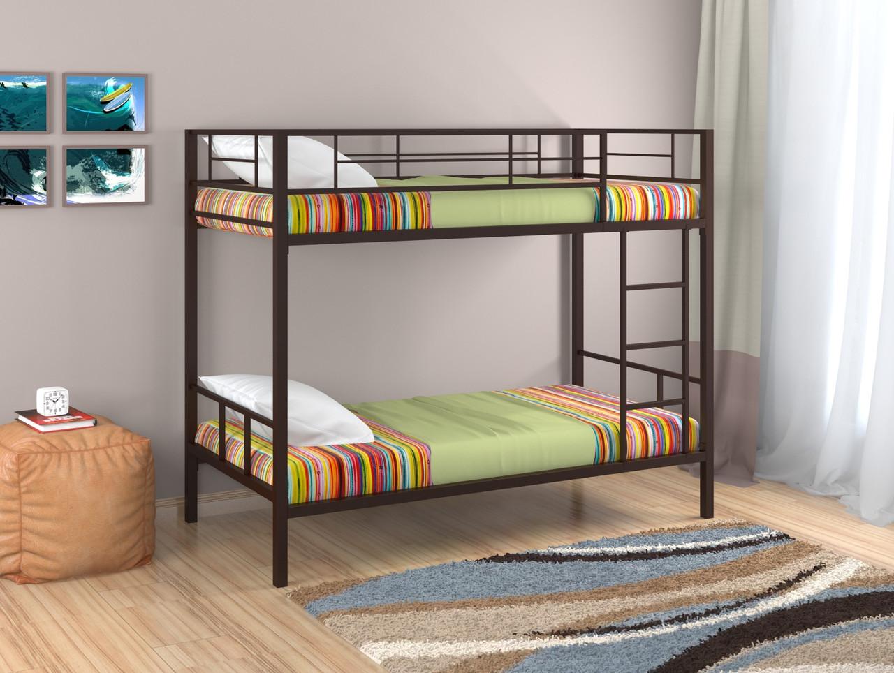 Кровать двухъярусная Севилья -2, коричневый