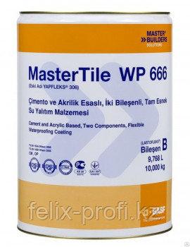 MasterTile WP 666 – двухкомпонентная эластичная гидроизоляция на цементной и акриловой основе. 10 кг.