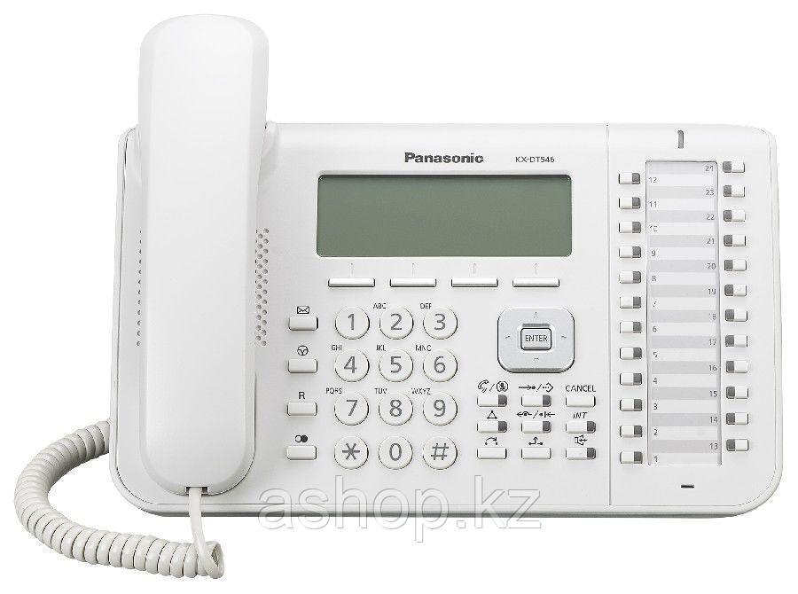 Системный телефон цифровой Panasonic KX-DT546 RU, Цвет: Белый