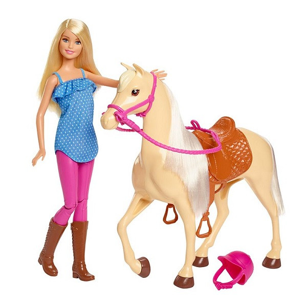 """Barbie Игровой набор """"Барби и лошадь"""""""
