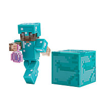 """Minecraft Набор """"Стив в алмазной броне с зельем невидимости"""""""
