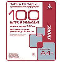 Файл А4  50мк 100шт Россия глянец # 013GFlux