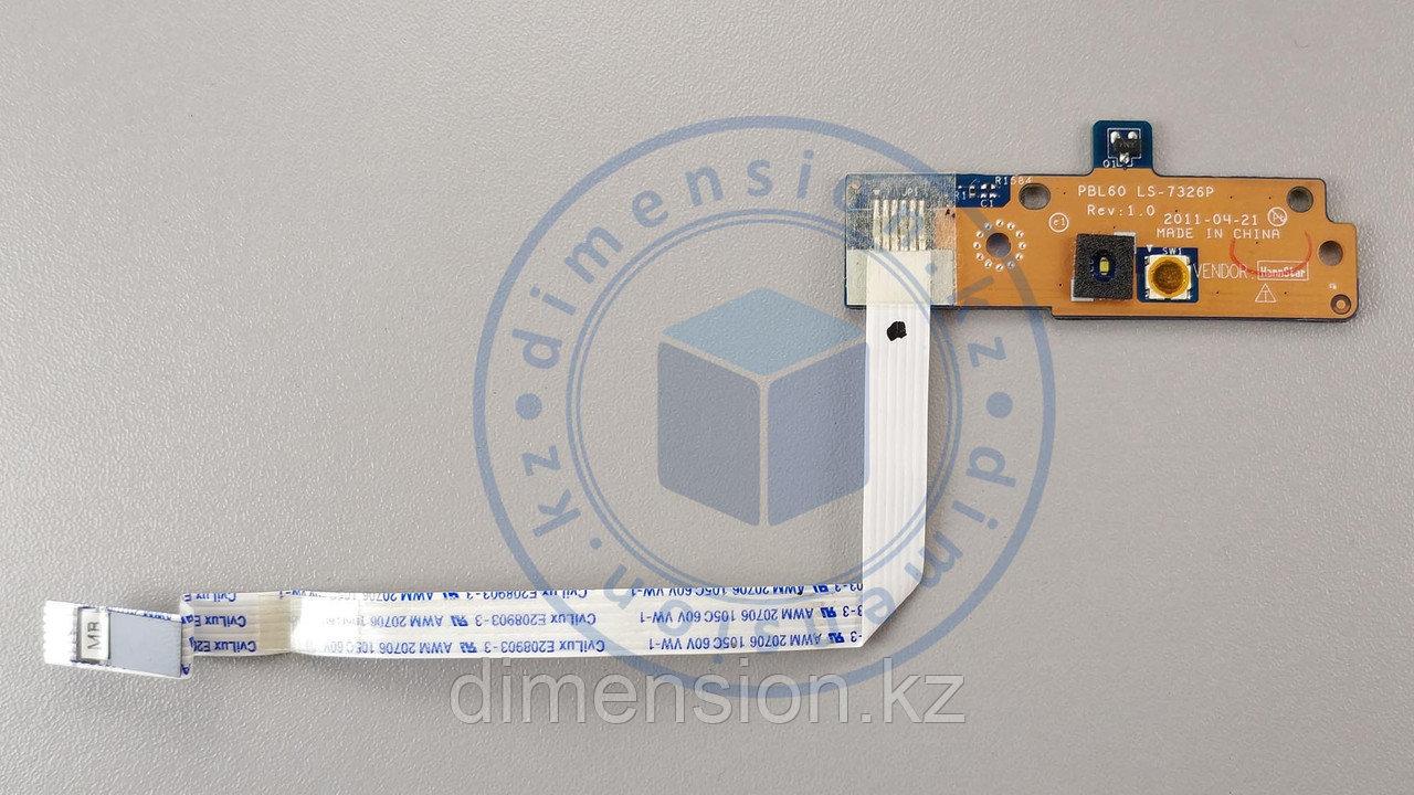 Кнопка включения PBL60 LS-7326P Rev. 1.0 для ASUS K53T K53U