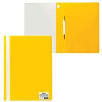 Скоросшиватель пластиковый А4 120мк Желтый OfficeSpace