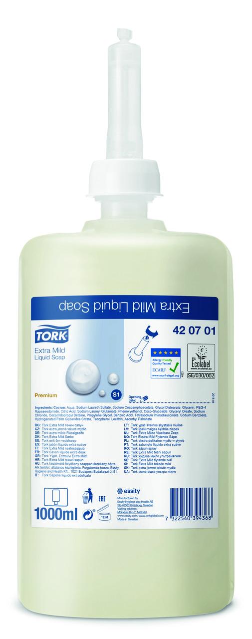 Tork жидкое мыло ультрамягкое (косметическое) 420701