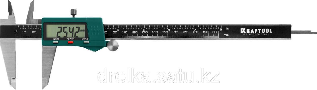 KRAFTOOL штангенциркуль электронный, 200мм, 0,01мм