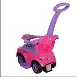 Каталка RANGE Ningbo prince (ручка,бампер, подставка для ног) розовый, фото 2