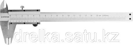 STAYER PROFI штангенциркуль, метрическая шкала, с глубиномером, нержавеющая сталь, 150мм, фото 2