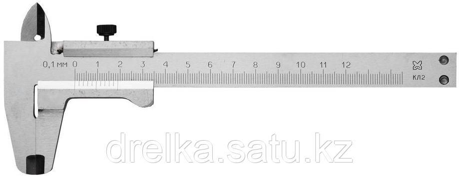 Штангенциркуль металлический тип 1, класс точности 2, 125мм, шаг 0,1мм , фото 2
