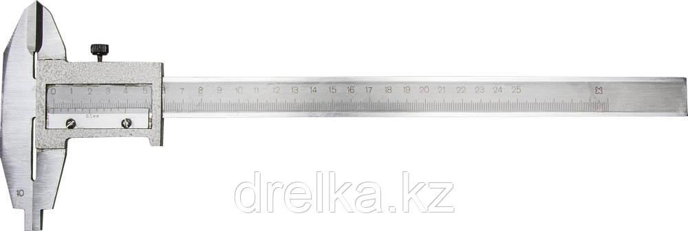 Штангенциркуль металлический тип 1, класс точности 2, 250мм, шаг 0,1мм