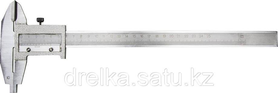 Штангенциркуль металлический тип 1, класс точности 2, 250мм, шаг 0,1мм, фото 2