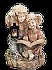 """Садовая скульптура """"Мальчик и девочка с фонариком"""""""