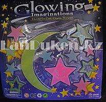 Фосфорные наклейки звезды и луна в детскую комнату